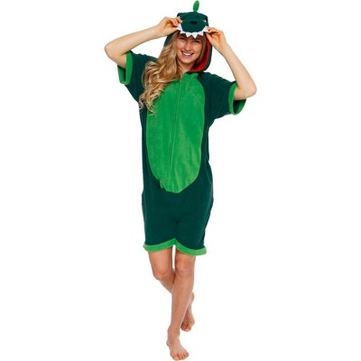 Funziez! Dinosaur Women's Short Sleeve Novelty Romper
