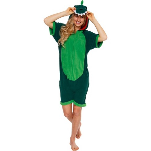 Funziez! Dinosaur Women's Short Sleeve Novelty Romper - image 1 of 4