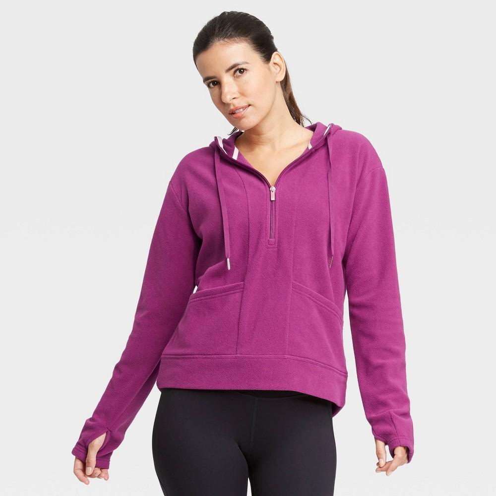 Women 39 S Microfleece Pullover Sweatshirt All In Motion 8482 Purple S