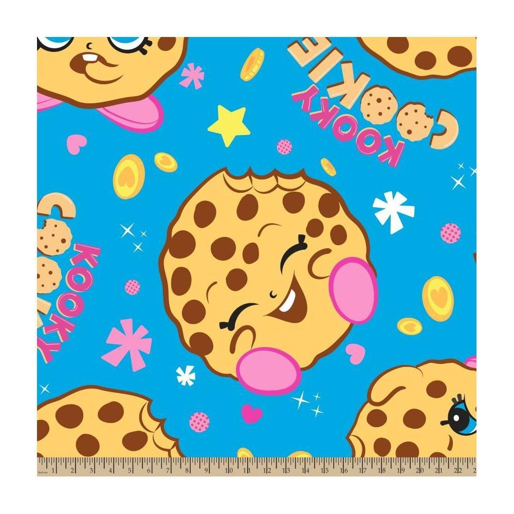 Image of Kooky Cookie Fleece Fabric by the Yard