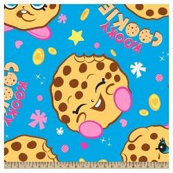 Kooky Cookie Fleece Fabric by the Yard