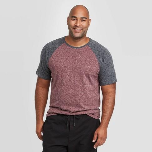 Men's Big & Tall Standard Fit Novelty Crew Neck Raglan T-Shirt - Goodfellow & Co™ Red - image 1 of 3