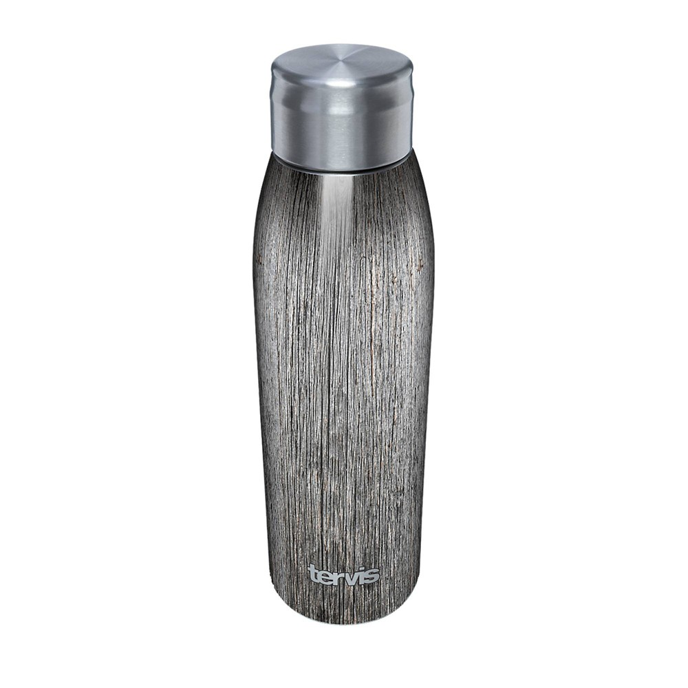 Promos Tervis 17oz Stainless Steel Water Bottle - Gray Wood Grain