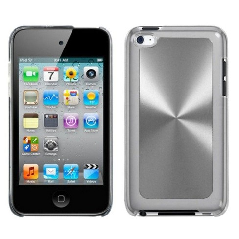 MYBAT For Apple iPod Touch 4th Gen Silver White Cosmo Aluminum Hard Case Cover - image 1 of 3