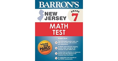 Barron's New Jersey Math Test Grade 7 (Paperback) (Kristen Scott) - image 1 of 1