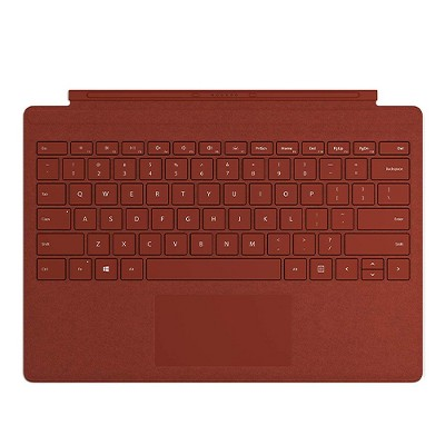 Microsoft Surface Pro Signature Type Cover Poppy Red - Full keyboard experience - Ultra-slim and portable - Large trackpad for precise control