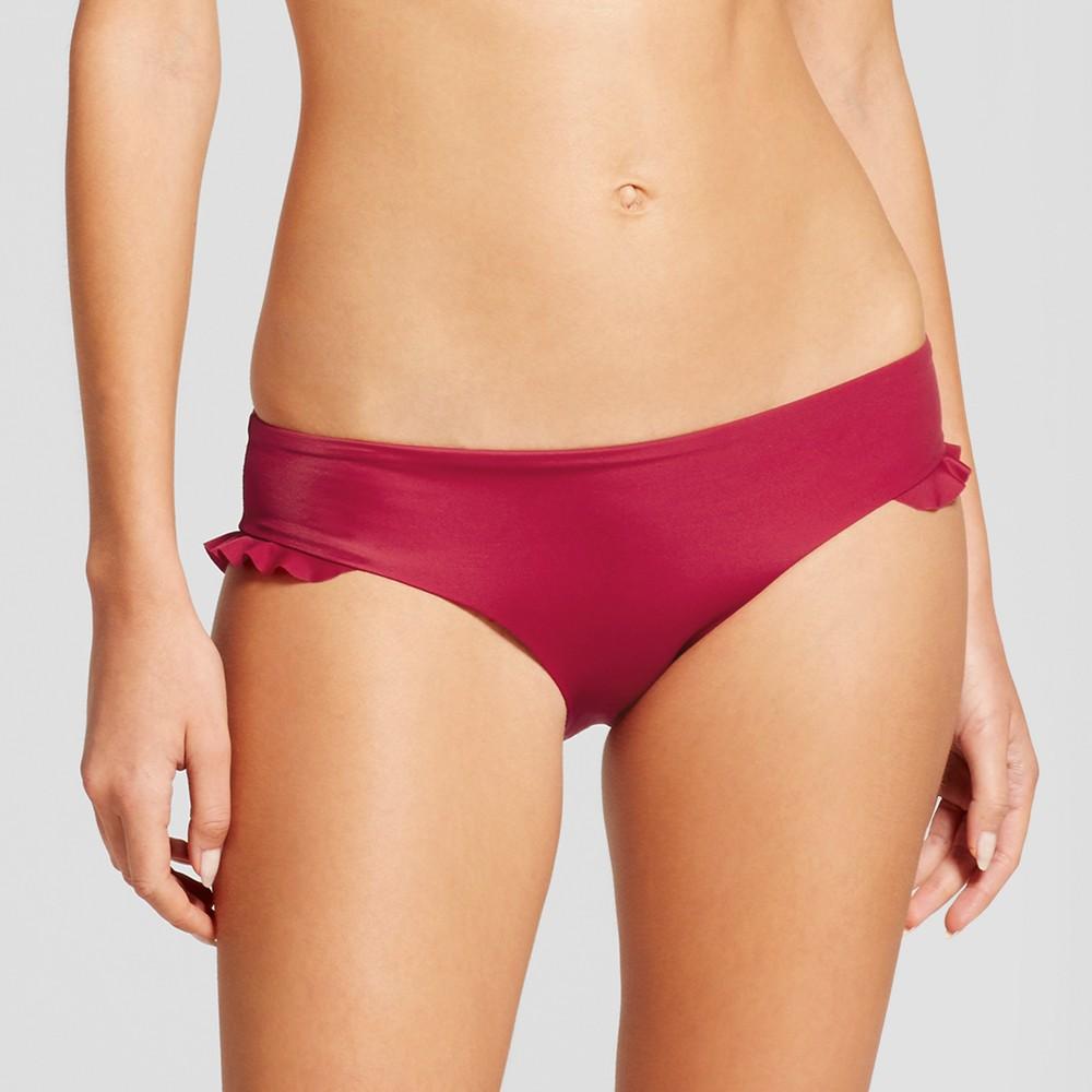 Women's Beach Hipster Bikini Bottom - Shade & Shore Sangria S, Red