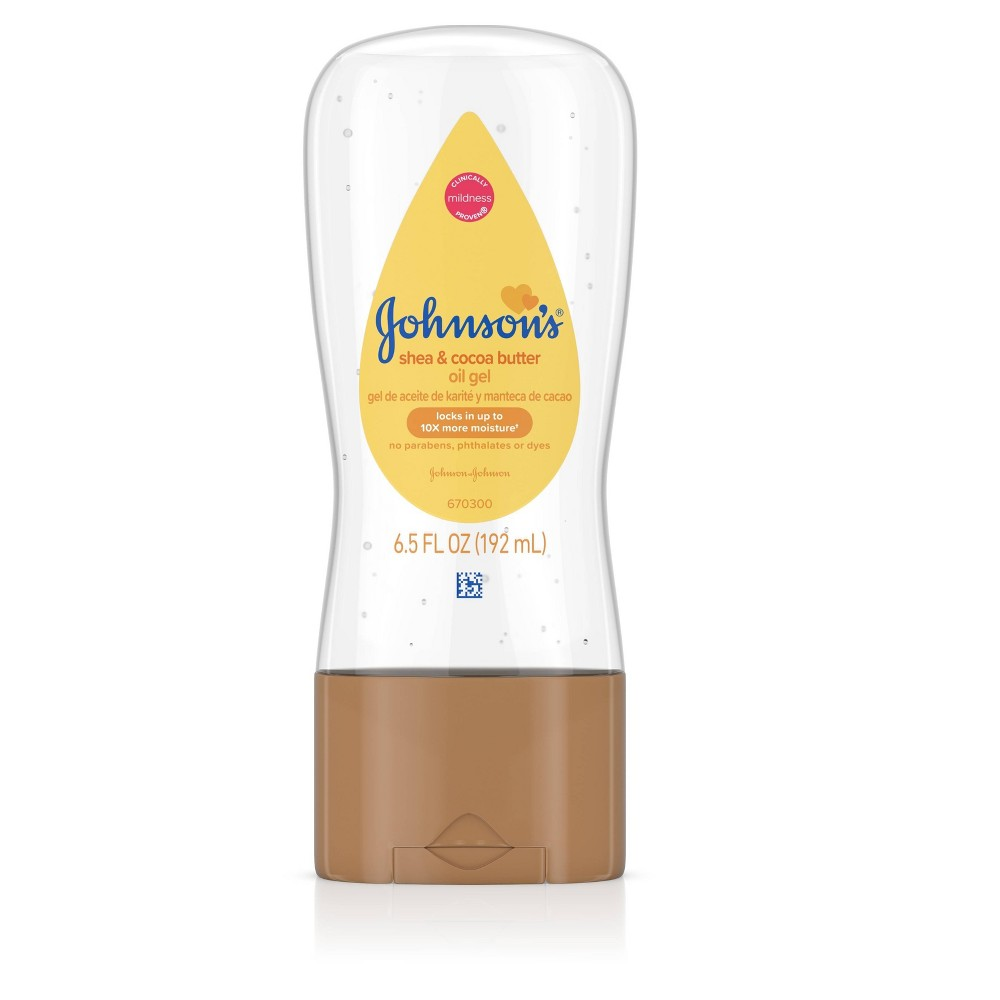 Image of Johnson's Baby Oil Gel With Shea & Cocoa Butter For Baby Massage - 6.5 fl oz