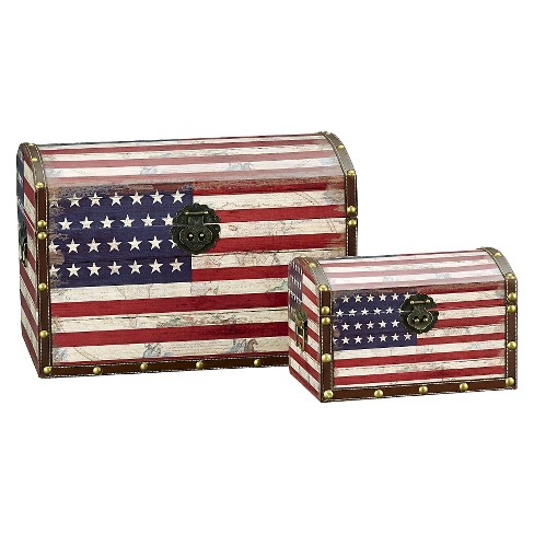 Household Essentials® American Flag Trunks Set of 2 - image 1 of 2