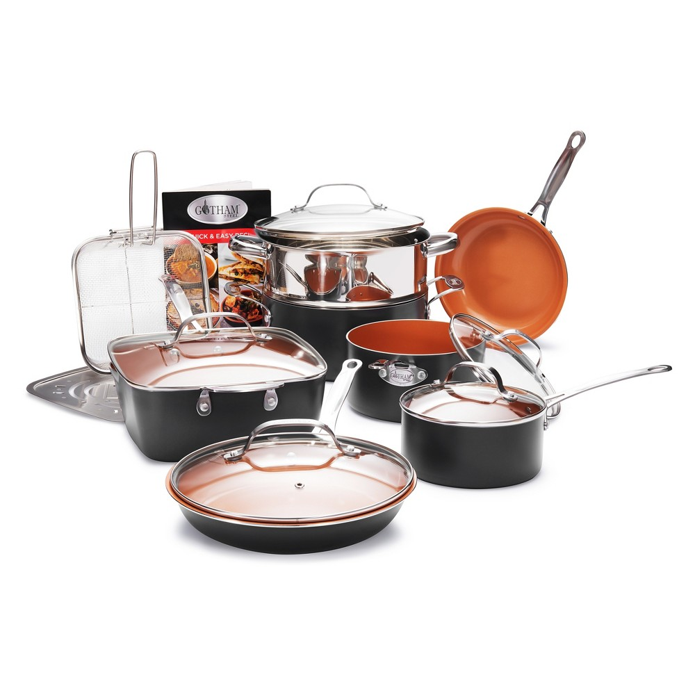 Image of As Seen on TV Gotham Steel 15pc Ultimate Cookware Set, Gray Brown