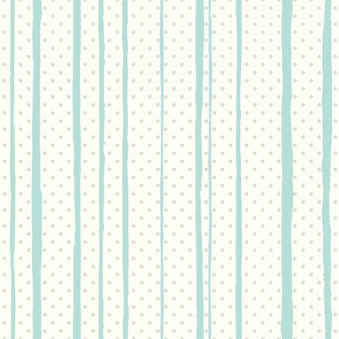 All Mixed Up Peel & Stick Wallpaper Silver/Teal - RoomMates - image 1 of 4