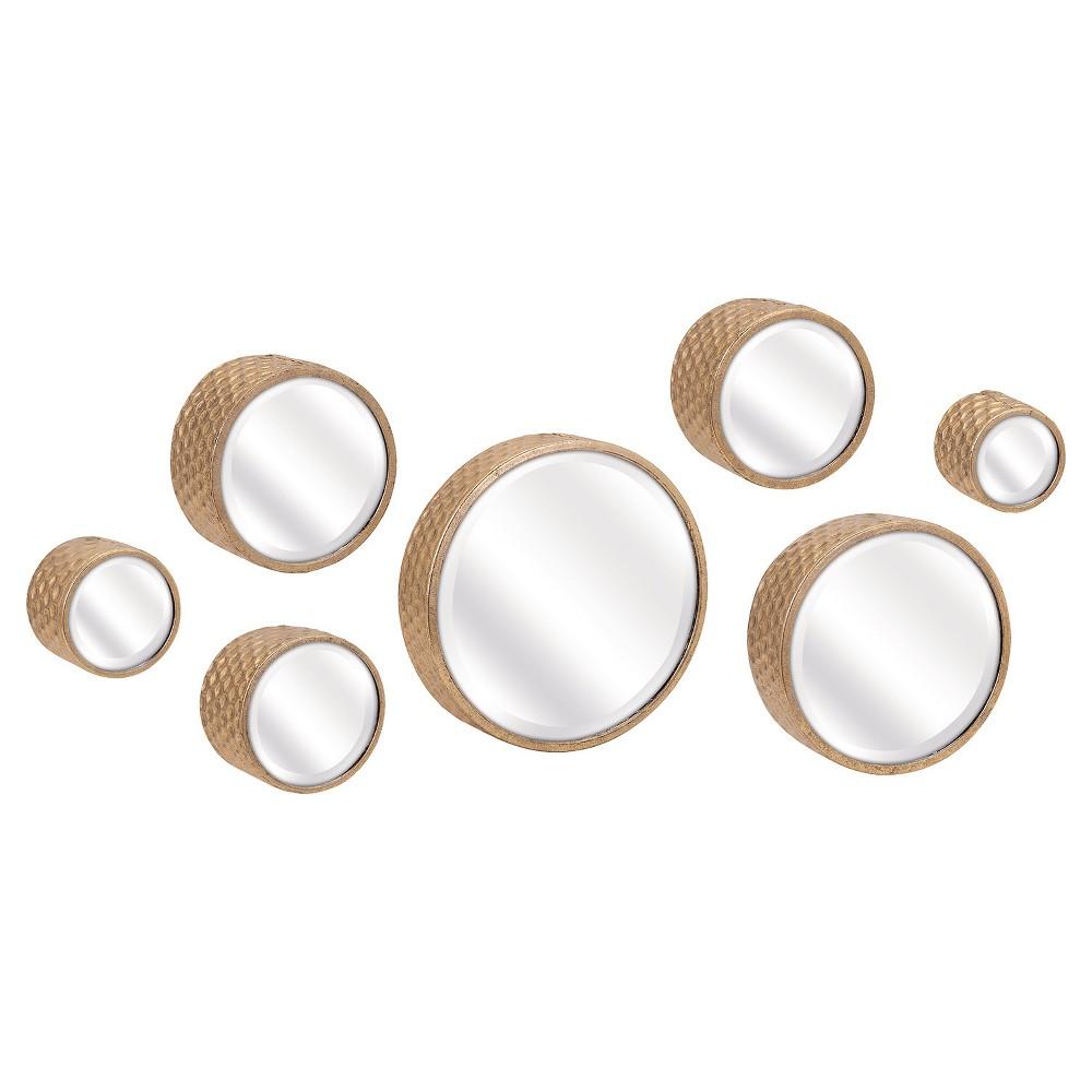 Image of Round Mirror Set of 7 Gold - Aurora Lighting