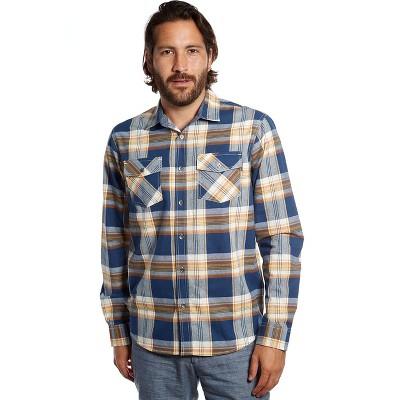 Distortion Men's Standard Fit Long Sleeve 2-Pocket Button-Down Shirt.