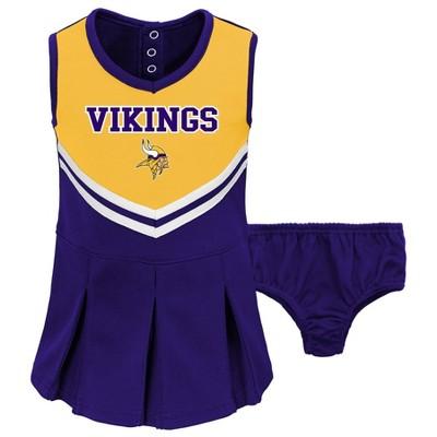 NFL Minnesota Vikings Toddler Girls' In the Spirit Cheer Set