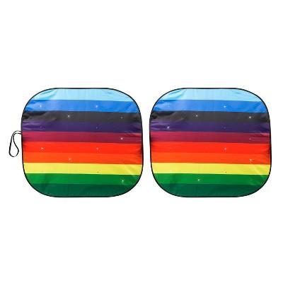 LUNNA 1pc Rainbow Love Twist Sunshade Embellished with Swarovski Crystals