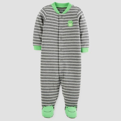 Baby Boys' Cotton Frog Sleep N' Play - Just One You™ Made by Carter's® Gray/Green Newborn
