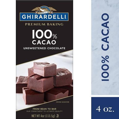 Ghirardelli Unsweetened 100% Cacao Chocolate Baking Bar - 4oz - image 1 of 4