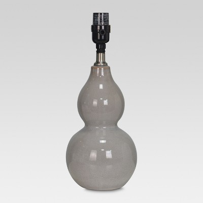 Double Gourd Ceramic Small Lamp Base Gray - Threshold™