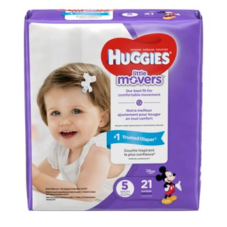 Huggies Little Movers Diapers - Size 5 (21ct)