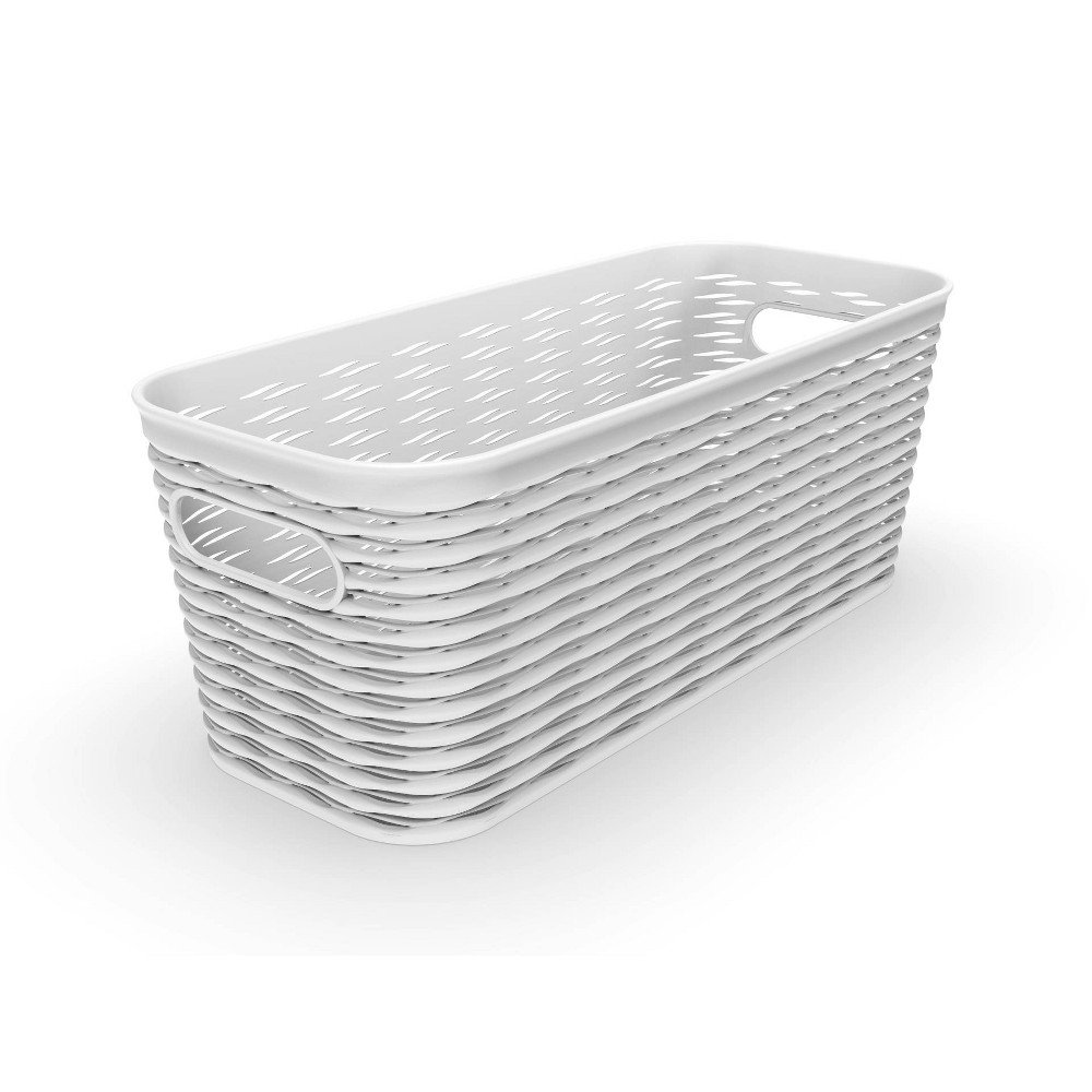 5l 1 2 Medium Wave Design Storage Bin White Room Essentials 8482
