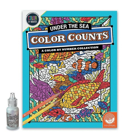 MindWare Color By Number Color Counts: Glitter Under The Sea - Coloring Books - image 1 of 1