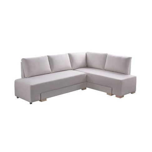 Lester Convertible Sleeper Sectional, Cream Sleeper Sofa With Chaise