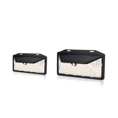 2pk LED Solar Motion Sensing Wall Light - Techko Maid