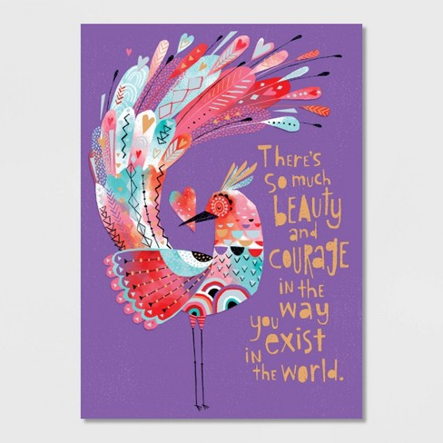Beauty and Courage Valentine's Day Greeting Card - image 1 of 4
