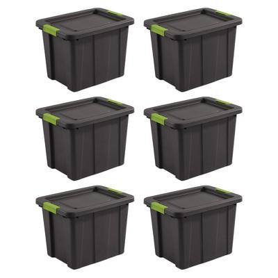 Sterilite Tuff1 Latching 18 Gallon Plastic Storage Tote Container & Lid (6 Pack)