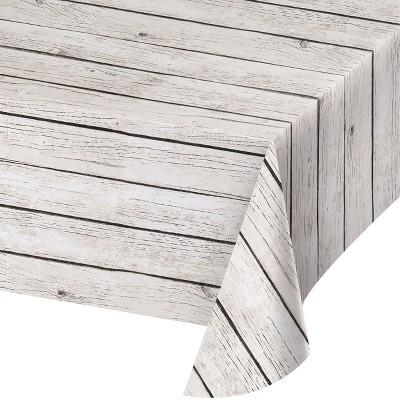 Wood Grain Plastic Tablecloth