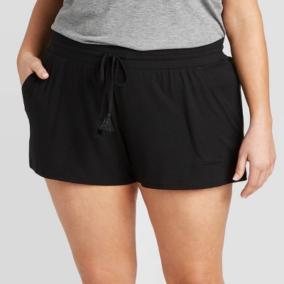 Women's Plus Size Beautifully Soft Pajama Shorts - Stars Above™ Black 2X