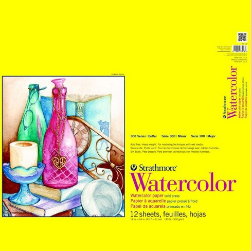 Strathmore 300 Series Watercolor Pad, 18 x 24 Inches, 140 lb, 12 Sheets - image 1 of 1