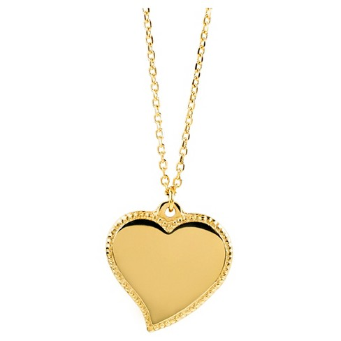 West Coast Jewelry Goldtone Stainless Steel Heart Charm Necklace - image 1 of 3