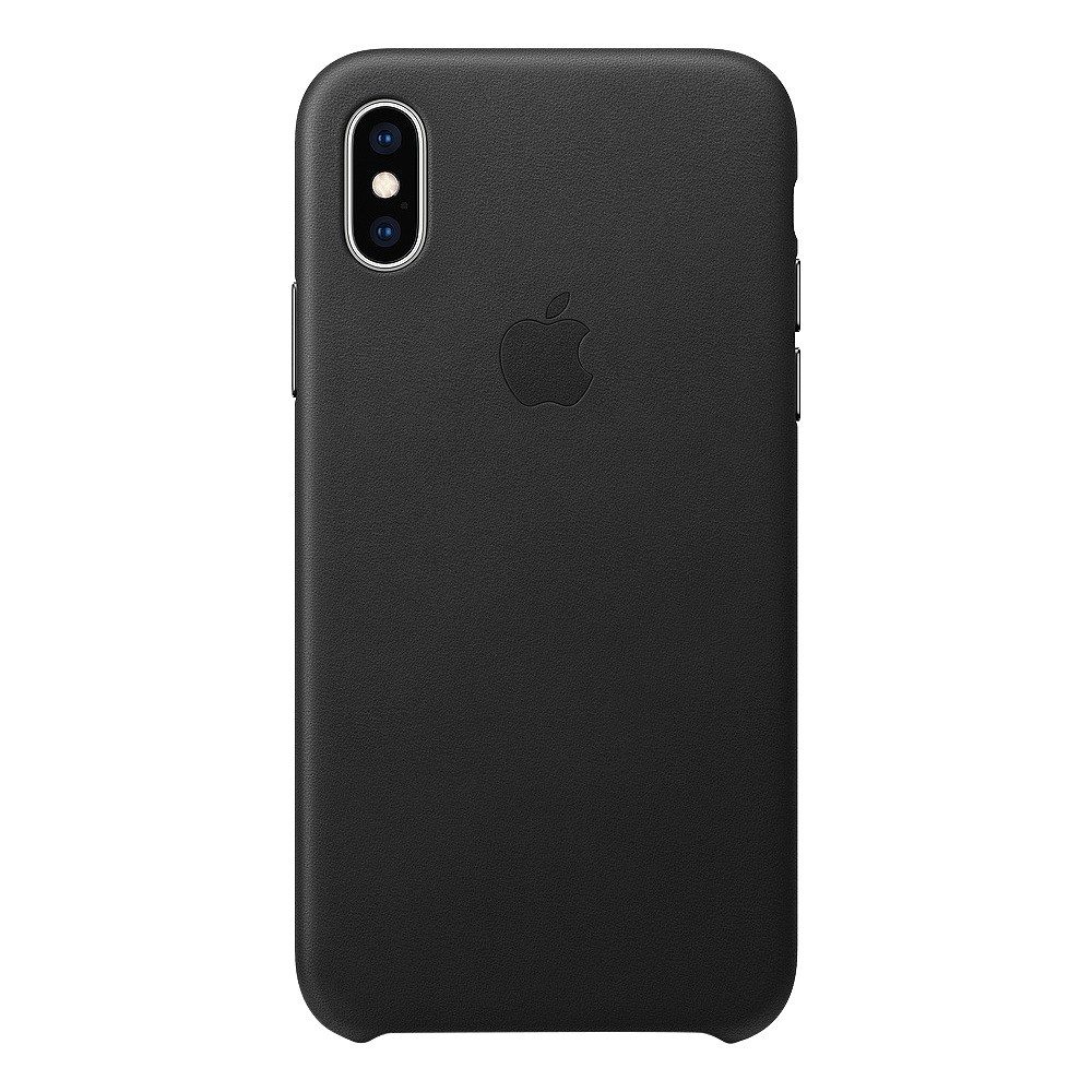Apple iPhone X/XS Leather Case - Black