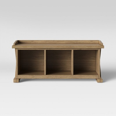 Incredible Litchfield Farmhouse Wood Storage Bench Wheat Threshold Alphanode Cool Chair Designs And Ideas Alphanodeonline