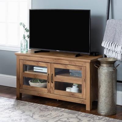 "44"" Wood TV Stand Storage Console Barnwood - Saracina Home"