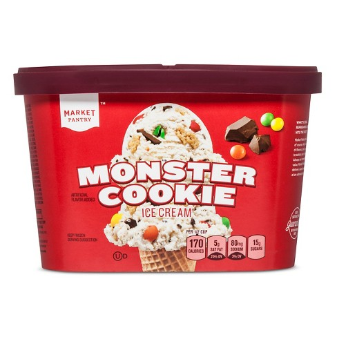 Reduced Fat Monster Cookie Ice Cream - 1.5qt - Market Pantry™ - image 1 of 1