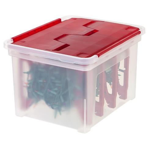- IRIS Christmas Light Storage Box With 4 Light Wraps : Target