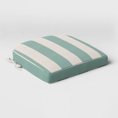 Cabana Stripe Outdoor Rounded Seat Cushion DuraSeason Fabric™ - Threshold™