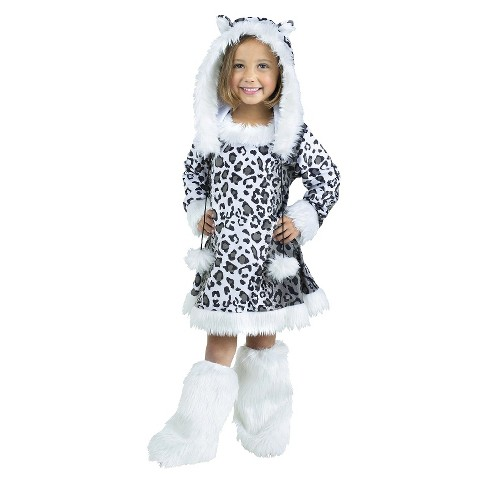 Girls' Snow Leopard Costume - image 1 of 1