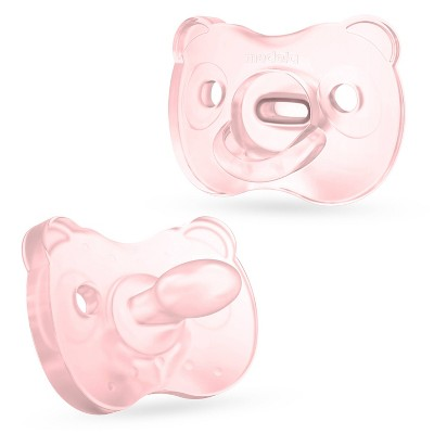 Medela Baby Soft Silicone Pacifier - Pink/Transparent 6-18 Months 2pk