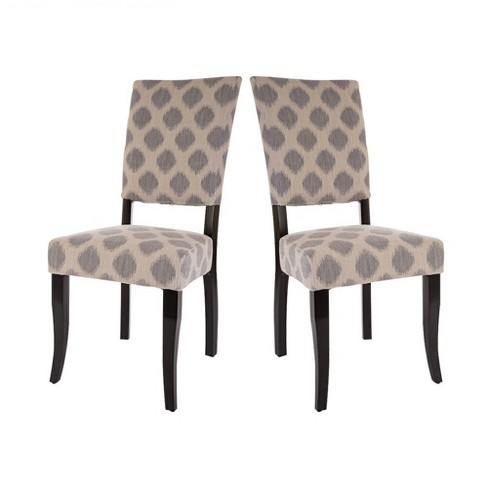 Set of 2 Accent Fabric Dining Chair - Beige - Glitzhome - image 1 of 7