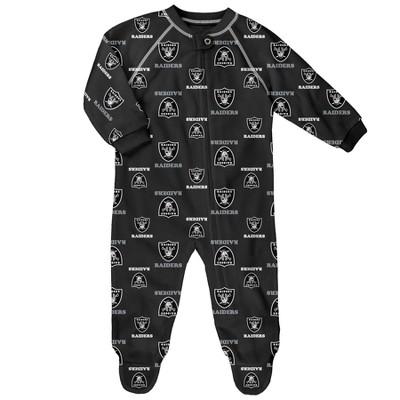 Oakland Raiders Newborn-Infant Blanket Zip-Up Sleeper 6-9 M