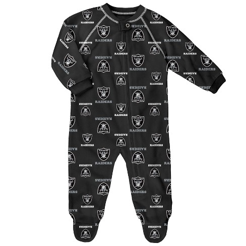 NFL Oakland Raiders Newborn/ Infant Blanket Zip-Up Sleeper - image 1 of 1