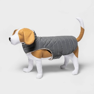 Reflective Dog and Cat Puffer Vest - Gray - Boots & Barkley™