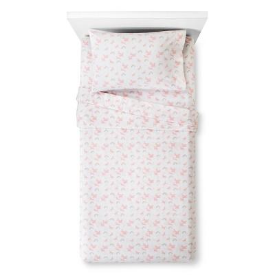 Unicorns Printed 100% Cotton Sheet Set (Toddler)Pink 3pc - Pillowfort™