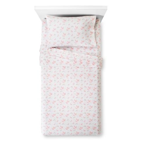 Unicorns Printed Cotton Sheet Set Pillowfort Target