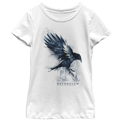 Girl's Harry Potter Ravenclaw Bird Watercolor T-Shirt