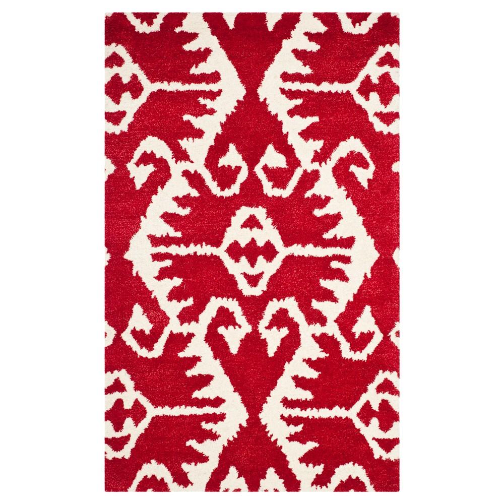 Garrard Accent Rug - Red / Ivory (3' X 5') - Safavieh