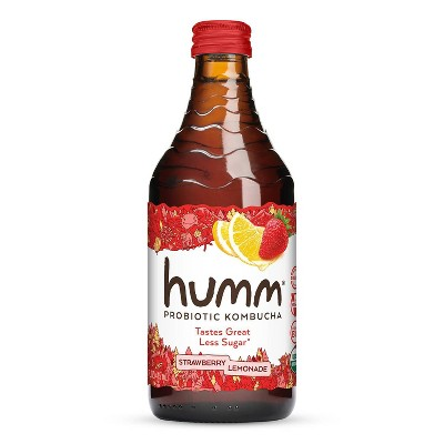 Humm Strawberry Lemonade Kombucha 14oz